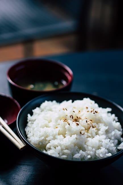 白いご飯とお味噌汁