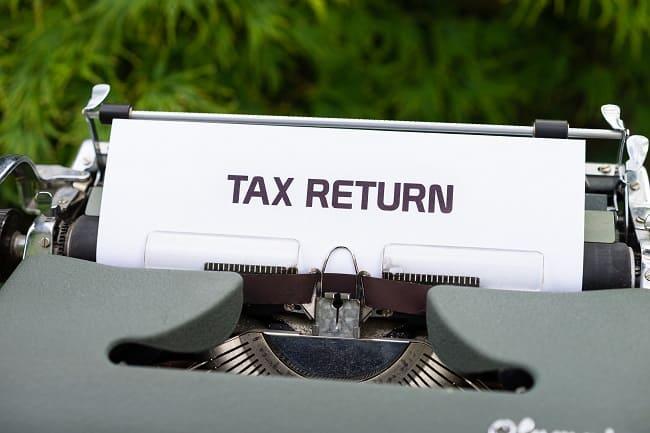 tax returnの文字