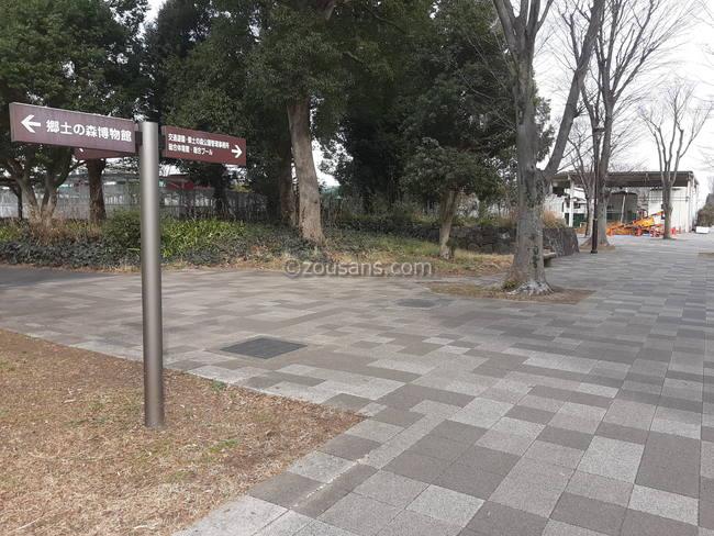 府中郷土の森博物館から交通遊園までの遊歩道